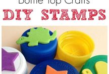 Creative & Messy Play Bottle Tops & Corks  #messy play #craft #recycle #free