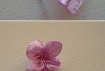 Fabric flowers/ bloemen maken van stof