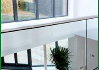 The Glass Garden Balcony / This contemporary-style balustrade gives a modern look. It combines stainless steel footings and handrail with a 15mm toughened glass infill from our Easy Glass range to give the property a focal point to be proud of.