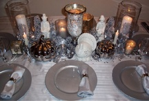 let's set the table and plan a soiree / dining table arrangements/ party planning ideas/ party themes