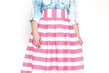 Denim and skirts
