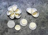 Keceden cicekler / flower crafts