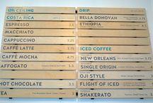 커피인테리어(메뉴판)