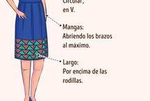 vestido según figura