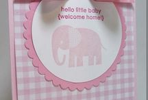 Stampin up- baby cards
