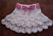 faldas a crochet