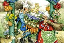 Inge Look--- Illustrator ! / Born in Helsinki, Finland in1951. An Artist and Gardener ! I love the quirkiness !!