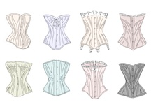 UNDERPINNINGS REVEALED 1. /  A brief history in no order of Women's Underwear in its efforts to meet the desired image!