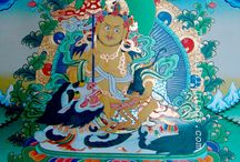 Tibetan Thangka Paintings / A thanka painting is a religious object and a medium for expressing Buddhist ideals. These paintings are mostly executed on cotton canvas and often framed or brocaded with silk cloth. They depict images of different deities related to Buddhism (few in hindu theme as pauvha) which was hung in a monastery or a family altar and carried by lamas in ceremonial processions. Paubhas depict deities, mandalas or monuments of buddhist & hindu deity, and are used to help the practitioner meditate.