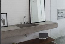 Bathroom / Clean simple lines, usage of concrete