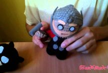 Super heroes hand made toys