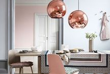 Pantone Color of the Year 2016 / Ideas on how to incorporate Pantone's 2016 Color of the Year into your home.   For the first time, the blending of two shades – Rose Quartz (13-1520) and Serenity (15-3919) have been chosen as the  Pantone® Color of the Year.