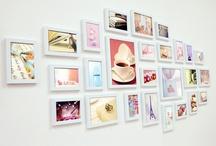 Murs de cadre / inspirations pour mon salon!