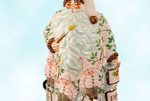 Patricia Breen Santa Claus / SundryShop offers one of the largest collections of fine, collectible hand blown glass ornament Santa Claus, each demonstrating superb silvered glittering and hand painting.
