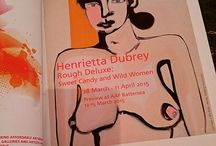 """Henrietta Dubrey - Rough Deluxe: Sweet Candy and Wild Women / 28 Mar - 11 Apr 2015 Henrietta Dubrey's third solo exhibition with EM comprises the organic abstracts for which she is most well-known, alongside bold figurative female abstracts depicted in an """"upfront and in your face manner"""". Previewing at AAF Battersea in London Mar 12-15 and opening in Bath Mar 28."""
