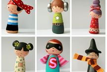 Clothespin Doll / Clothespin Dolls and wooden people / by Andrea Tolman