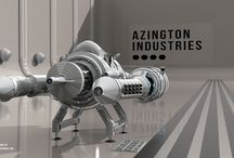 Azington Industries / Azington Industries spaceship transport vehicle, Antoni Depowski, #highpoly