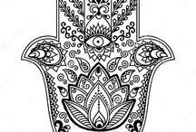 hamsa hand and mandala