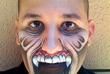 Decorated Faces / face paint, monster make up or special effects