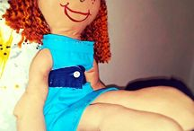 doll / Them are cute and having different styles; made in cotton; recycling everything that is possible for dress up them!