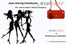 """JoanEase / Chic cross-body bag meets utilitarian iPhone case.  Life just got a whole lot easier.  Introducing JoanEase, the ultimate all-in-one accessory that allows the wearer to access her phone with ease, by charitable jewelry designer Joan Hornig.  Designed not only to be practical and stylish, but also as a """"call to action"""", a portion of profits from the sale of each JoanEase is donated to charity."""