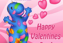 Dino-Buddies Valentines Day Board / Dino-Buddies Valentines Day Items