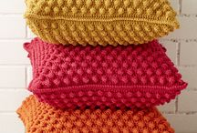 Crochet &knitting - pillows and blankets