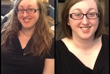 Before and After at taj salon & spa