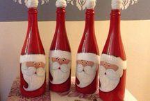 santa de botellas