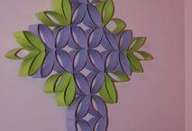 cruz morada con verde