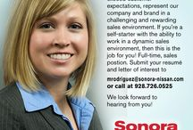 Careers @ Sonora Nissan / If you're looking for a challenging career and wish to be part of the Sonora Nissan family, check here for current openings and positions. We'd love to have you on board!