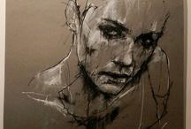 Human emotion/behaviour art- GCSE project