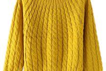 yellow swetr