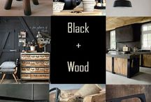 ⭐️Black and wood