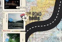 digitális scrapbook utazás