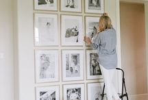 Picture hanging arranging