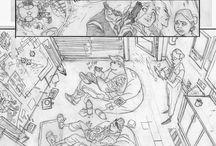 comic book pencil art