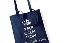Bolsas y Bolsos personalizados / Bolsas y bolsos personalizados con original estampación para madres y profesoras. Originales bolsos de tela personalizados para sorprender a las mamás y profes que más quieres.