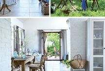 country living style / home decoration ideas, Italian style, wood pieces and furniture