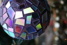 Mozaiek bollen met cd's