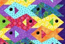 Escher opti art quilts