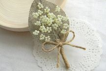 Antique Wedding / Ivory, Pink and Brown