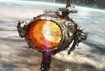 Science Fiction / Planètes, véhicules, villes et architectures du future ou imaginaires.