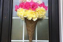 ice cream wreath