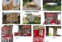 """CABANE EN PALETTES / DIY cabane en palettes et intérieur fait """"main"""""""