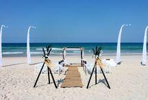 Wedding Decor - bamboo tripod