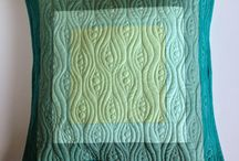 Free motion quilts