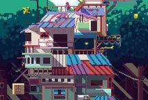 Pixel game references