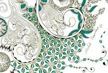 Desenhos zentangle e zendoodle