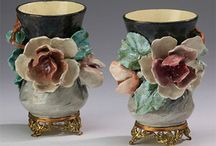 Porcelain: Majolica and Barbotine / Vibrant and charming, Majolica and Barbotine pieces represent nature indoors and across the auction floor.